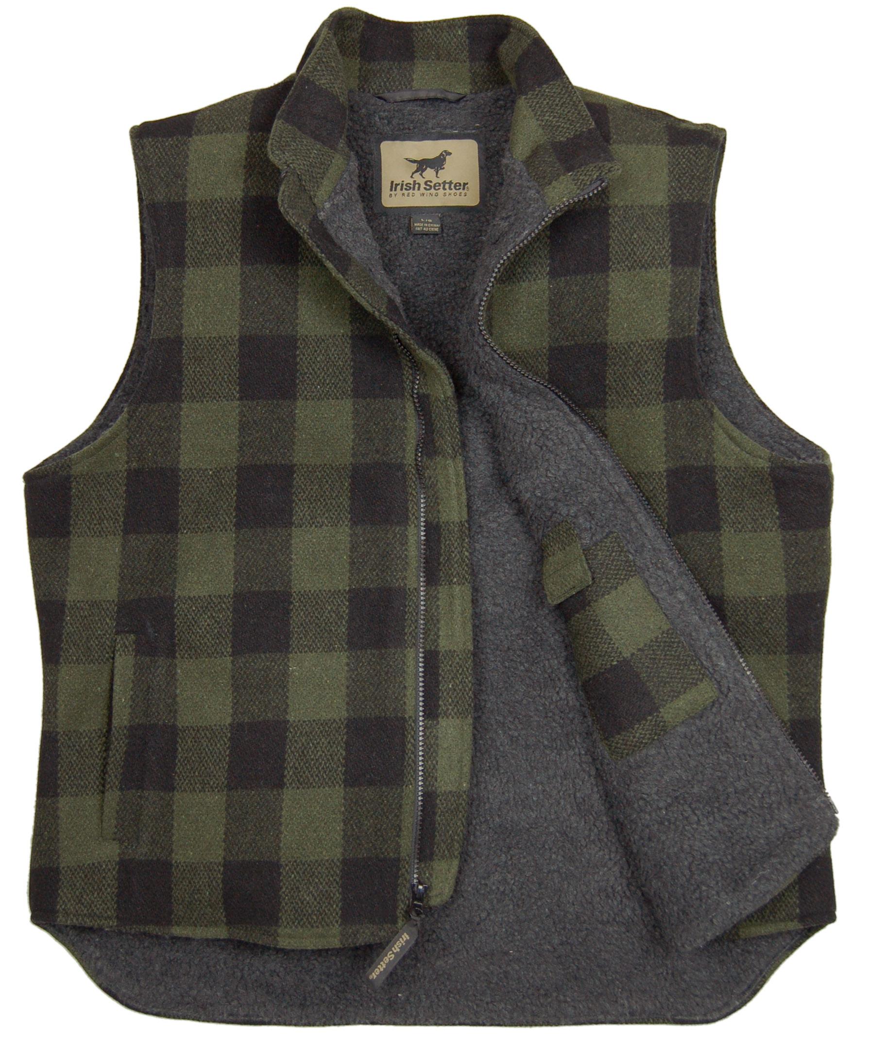 irish setter field camp plaid wool field vest outdoorhub. Black Bedroom Furniture Sets. Home Design Ideas